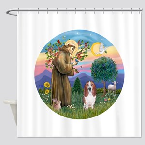 StFrancis-Basset#3 Shower Curtain