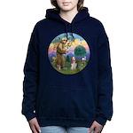 StFrancis-Basset#3 Women's Hooded Sweatshirt