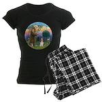StFrancis-Basset#3 Women's Dark Pajamas