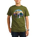StFrancis-Basset#3 Organic Men's T-Shirt (dark)