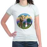StFrancis-Basset#3 Jr. Ringer T-Shirt