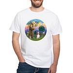 StFrancis-Basset#3 White T-Shirt