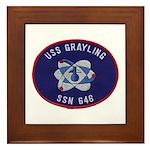 USS GRAYLING Framed Tile