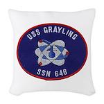 USS GRAYLING Woven Throw Pillow
