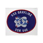 USS GRAYLING Throw Blanket
