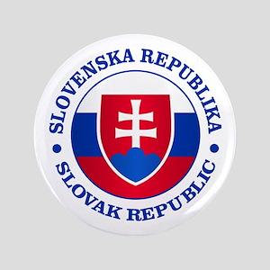 "Slovakia (rd) 3.5"" Button"