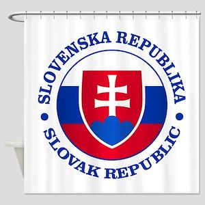 Slovakia (rd) Shower Curtain