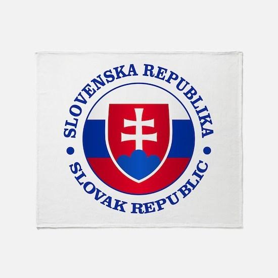Slovakia (rd) Throw Blanket