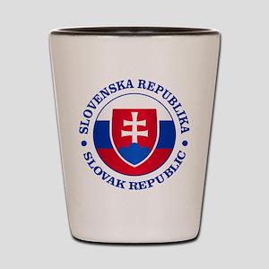 Slovakia (rd) Shot Glass