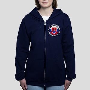 Slovakia (rd) Women's Zip Hoodie