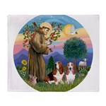 StFrancis-2Bassets Throw Blanket