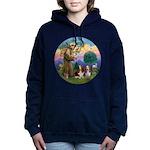 StFrancis-2Bassets Women's Hooded Sweatshirt