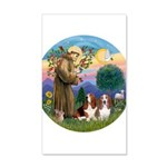 StFrancis-2Bassets 20x12 Wall Decal