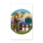 StFrancis-2Bassets 35x21 Wall Decal