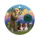 Stfrancis-2bassets Ornament (round)