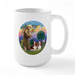 StFrancis-2Bassets Large Mug