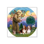 StFrancis-2Bassets Square Sticker 3