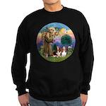 StFrancis-2Bassets Sweatshirt (dark)