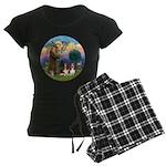 StFrancis-2Bassets Women's Dark Pajamas