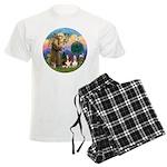 StFrancis-2Bassets Men's Light Pajamas
