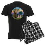 StFrancis-2Bassets Men's Dark Pajamas