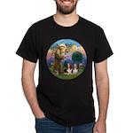 StFrancis-2Bassets Dark T-Shirt
