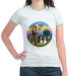 StFrancis-2Bassets Jr. Ringer T-Shirt