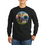 StFrancis-2Bassets Long Sleeve Dark T-Shirt