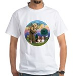 StFrancis-2Bassets White T-Shirt