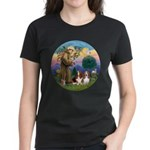 StFrancis-2Bassets Women's Dark T-Shirt