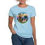 StFrancis-2Bassets Women's Light T-Shirt