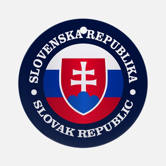 Slovakia (rd) Ornament (Round)