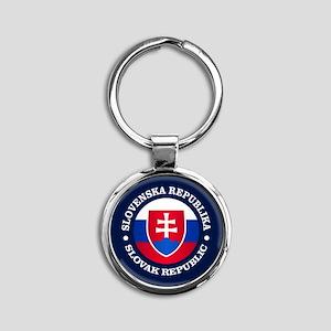 Slovakia (rd) Keychains