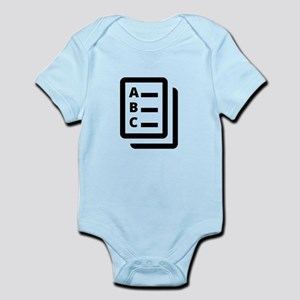 Multiple Choice Test Infant Bodysuit