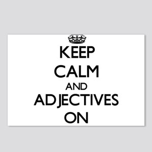 Keep Calm and Adjectives Postcards (Package of 8)