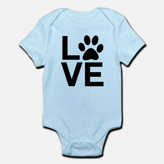 Love Dog / Cat Paw Print Body Suit