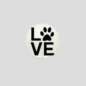 Love Dog / Cat Paw Print Mini Button