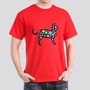 Cosmic Circles Cat Dark T-Shirt
