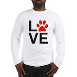 Love Dogs / Cats Pawprints Long Sleeve T-Shirt