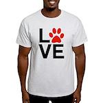 Love Dogs / Cats Pawprints Light T-Shirt