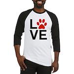 Love Dogs / Cats Pawprints Baseball Jersey