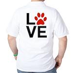 Love Dogs / Cats Pawprints Golf Shirt