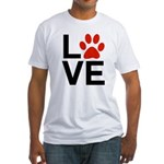 Love Dogs / Cats Pawprints Fitted T-Shirt