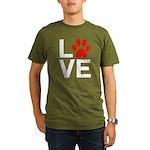 Love Dogs / Cats Pawp Organic Men's T-Shirt (dark)