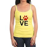 Love Dogs / Cats Pawprints Jr. Spaghetti Tank