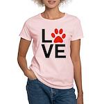 Love Dogs / Cats Pawprints Women's Light T-Shirt