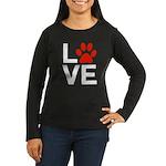 Love Dogs / Cats Women's Long Sleeve Dark T-Shirt