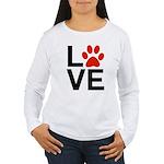 Love Dogs / Cats Pawpr Women's Long Sleeve T-Shirt