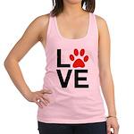 Love Dogs / Cats Pawprints Racerback Tank Top