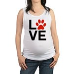 Love Dogs / Cats Pawprints Maternity Tank Top